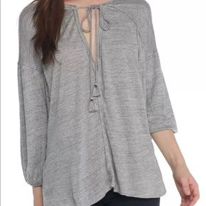 Free People We The Free Just A Henley Gray Tunic